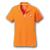 Ladies TN Orange Polo w/ Gingham Trim