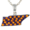 Brass Rhodium Plated Preciosa Crystal Tennessee Pendant